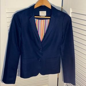 kate spade tami two-button blazer, navy, 4
